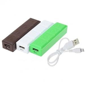 2600mAh Portable Chocolate USB Power Bank For Mobile Phones --- Color:Coffee