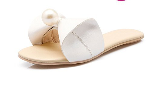 Eu 36 color Tamaño Mujer 6 Corbata D Estudiante Cuentas Zapatillas Artificiales Inferior 5 3 Playa De Uk Chanclas Parte Suave Yingsssq Us Lazo Black Rosado q4pUWHZH