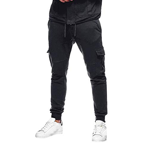 Dressin Sport Pants Men's Sport Pant Sollid Sport Baggy Pockets Sweatpants Slacks Casual Elastic Trousers Pant - Quilt Vortex