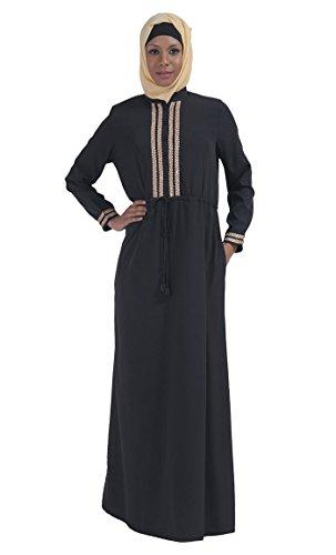 Gr East Essence Durchgehend Kleid Schwarz Damen 5XL Schwarz wFI8F6Aqn