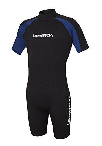 Lemorecn Wetsuits Youth Premium Neoprene 2mm Youth's Shorty Swim Suits(4021,US6)
