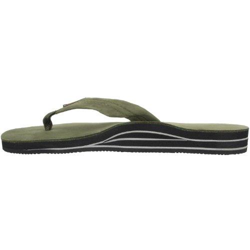 Regnbåge Sandaler Mens Premium Läder Sandaler - Skogsgrönt Xxxl