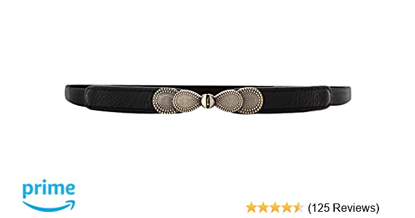 48d7d274511c VOCHIC Womens Skinny Belt Bow Elastic Thin Waist Belt Stretchy Cincher for  Dress