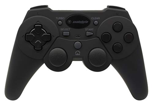 Snakebyte Wireless Controller - Bluetooth Gamepad - Including Vibration & Turbo Feature - Black - PlayStation 3