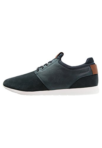 Pier One Sneaker Herren in Schwarz oder Dunklem Blau - Low Top Sneakers in Leder Optik - Turnschuhe mit Leichtem Tragegefühl Dunkelblau