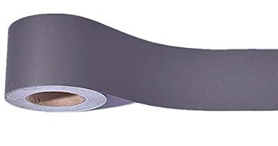 Emoyi Dark Grey Wallpaper Border Peel and Stick for Livingroom Bathroom Tiles Sticker 10cmx10m