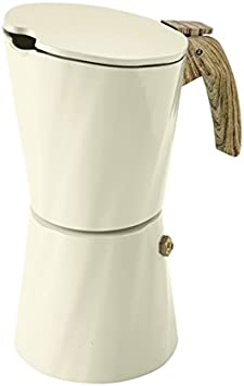 Cafetera Brandani Tower Vintage, para 4 tazas, color Arena, de aluminio: Amazon.es: Hogar
