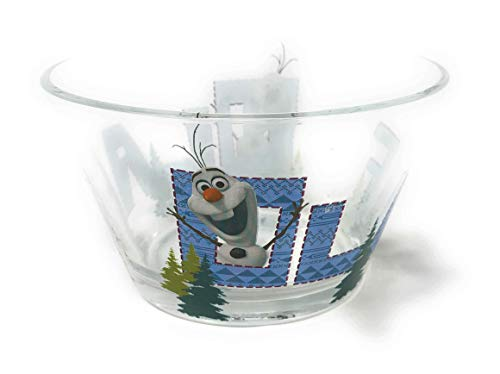 Disney Frozen Olaf Character Glass Cereal Bowl, -