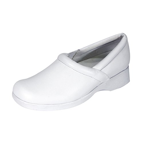 24 Hour Comfort  Carol (1029) Women Wide Width Comfort Slip-On Shoes White 10.5 by 24 Hour Comfort