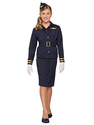 Girl's Flight Attendant Costume]()