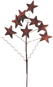 Rusty Star Twisted Wire Branch Spray Country Primitive Floral Accent Décor