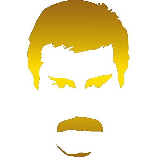 NBFU DECALS Freddie Queen (Metallic Gold) (Set of 2) Premium Waterproof Vinyl Decal Stickers for Laptop Phone Accessory Helmet CAR Window Bumper Mug Tuber Cup Door Wall Decoration