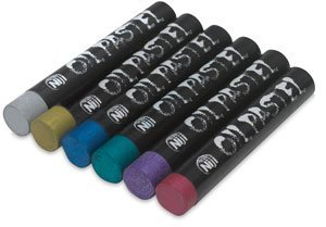 Pastels Metallic Oil (Yasutomo Niji Non-Toxic Oil Pastel Set, Metallic Color, Set of 6)