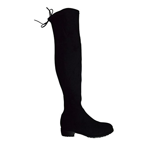 Picture of Kaitlyn Pan Lowland Black Over the Knee Boots(KP-OKB-LL-BK-39)
