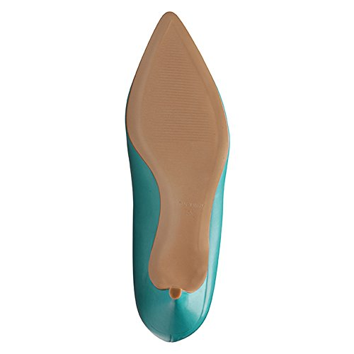 para Zapatos Turquesa Turquesa de de Evita vestir mujer Piel Shoes 5YqHFqxa