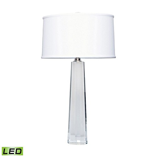 - Elk Lighting 729-LED Crystal Faceted Column LED Table Lamp, Clear