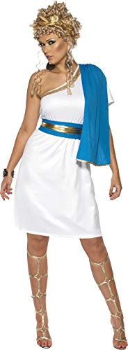 Smiffys Women's Roman Beauty Costume, Dress, Toga, Belt and Headpiece, Legends, Serious Fun, Size 6-8, -