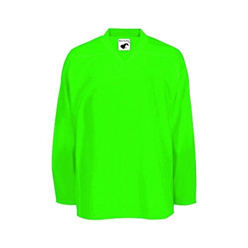 Pearsox Air Mesh Hockey Jersey (Medium, Neon Green)