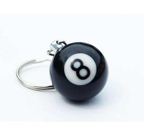 Aisy Ice - Llavero bola negra número 8 de billar: Amazon.es: Coche ...
