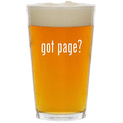 got page? - Glass 16oz Beer ()