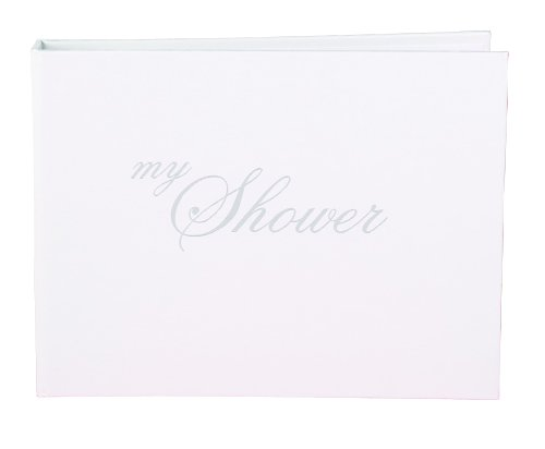 Hortense B. Hewitt Wedding Accessories Guest Book, My Shower, White