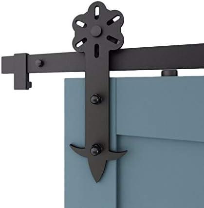 ドアレールハードウェアセット 5ft-10ft納屋のドアスライドドアハードウェアキット、寝室のプッシュアンドプルドアハンギングレールトラックアクセサリー (Size : 9.8ft/300cm single door kit)