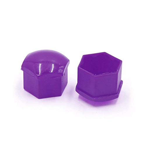 TOOGOO 20 pcs Purple Plastic Wheel Lug Nut Bolt Cover Cap with Removal Tool for Car,17mm by TOOGOO (Image #5)
