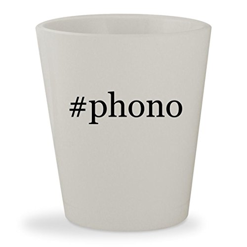 Phono   White Hashtag Ceramic 1 5Oz Shot Glass