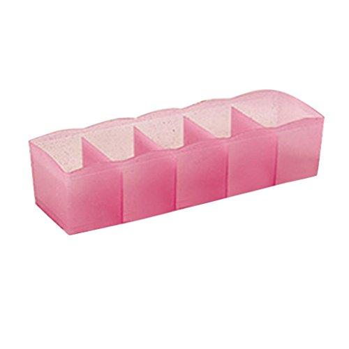 YJYdada 5 Cells Plastic Organizer Storage Box Tie Bra Socks Drawer Cosmetic divider (Hot (Archival Book Boxes)