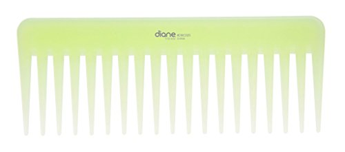 Diane oil-infused detangler comb, 6-inch, green, DBC025