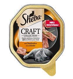 Sheba Craft feine Pastete mit Truthahn | 22 x 85g Katzenfutter nass