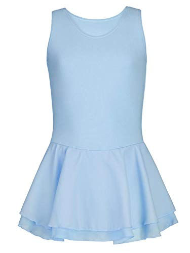 Capezio Dress - Capezio Girls' Double Layer Skirt Tank Dress | Child Dance Wear - Size 2T - 4T, Light Blue