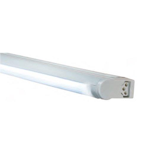 Jesco Lighting SG5A-28/30-W Sleek Plus Adjustable Grounded 28-Watt T5 Light Fixture, 3000K Color, White Finish 28w T5 Direct Wire