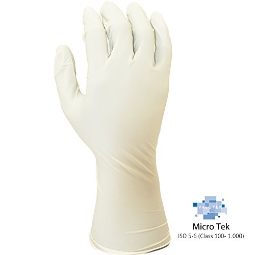 (Valutek VTGNPFB12-L Nitrile ESD Cleanroom Gloves [Ambidextrous, 12in Beaded Cuff, Powder Free, White] 100 Gloves, Large)