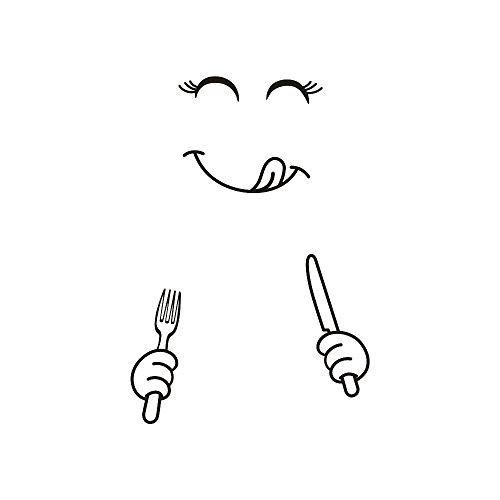 EDTO DIY Large Cute Sticker Fridge Happy Delicious Face Kitchen Fridge Wall Stickers Art (B) by EDTO (Image #2)