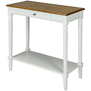 Amazon Com Long Entryway Table With Lower Shelf Wooden