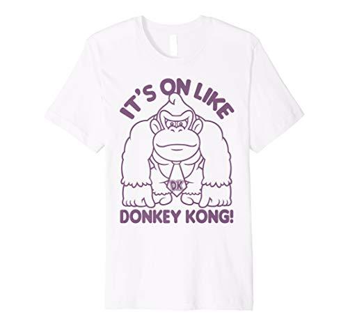 Nintendo It's On Like Donkey Kong Outline Poster Premium T-Shirt