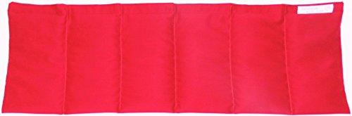Kirschkernkissen Wärmekissen Kirschkerne Fb rot Qualität o. chemische Reinigung schonend getrocknet ca. 60x20