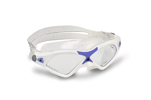 Protection Mask Clear Lens - Aqua Sphere Seal XP Clear Lens Swim Mask, White/Lavender