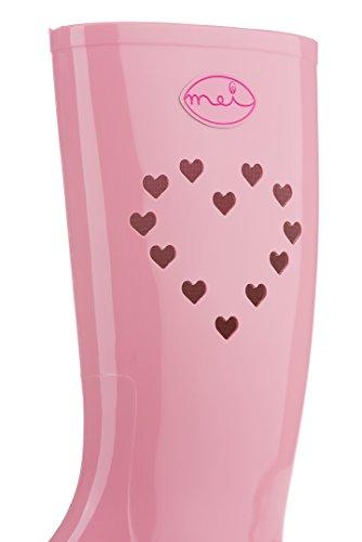 MEI Damen Perforierte Gummistiefel Pink Rosa