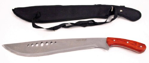 New Rose Ebony Machette W Wooden Handle Machete - Ebony Rose