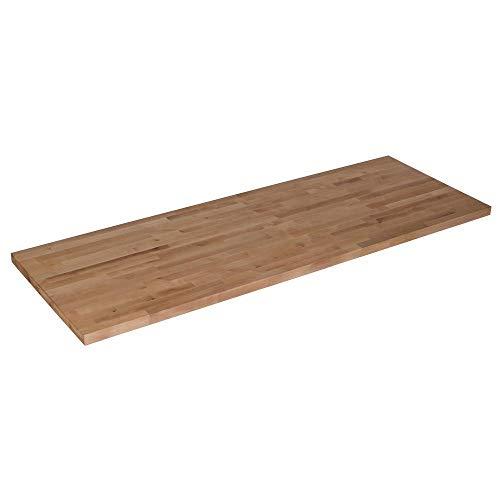 Mami-Team Block Wood Butcher X Cutting Board Unfinished Birch Kitchen Chopping Countertop Size 50 In X 25 In X 1.5 In