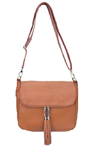 Roma Leather Concealed Womens Crossbody Purse Leathers Brown Carry Cowhide Light tTAwgTrq