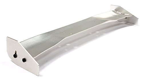 Integy RC Model Hop-ups C24922SILVER Realistic Alloy Rear Wing 165mm Width for 1/10 Size Drift & Touring (Alloy Rear Wing)