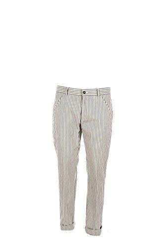 Pantalone Uomo Daniele Alessandrini 50 Blu/bianco P3387s15343701 Primavera Estate 2017