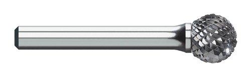 Titan TB19509 Solid Carbide Bur, Double Cut, Ball Shape, 1/4