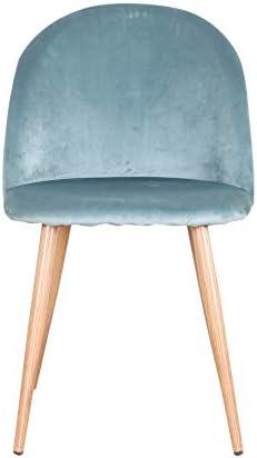 Uderkiny Lot de 4 chaises avec Dossier Chaise de Velours Chaise de Salle à Manger, Convient pour Cuisine Salon Salle à Manger Chambre etc.Vert