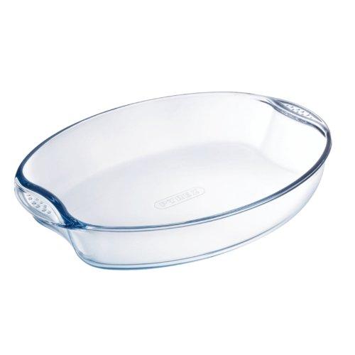 Pyrex Cristal Oval fuente de horno tamaño: 210 (W) X 300 (D) mm ...