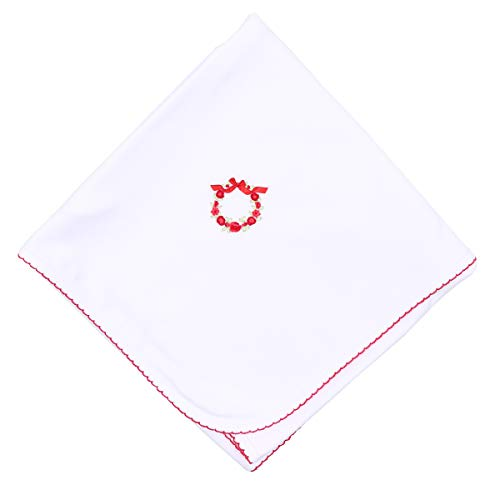 Magnolia Baby Unisex Baby Noelle's Classics Embroidered Blanket Red One Size