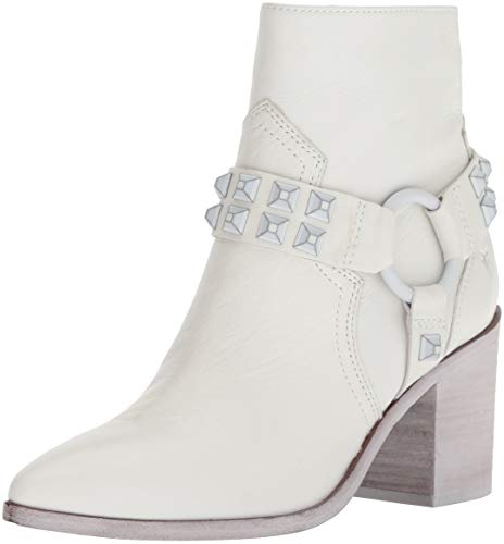 FRYE Women's Flynn Deco Stud Harness Short Ankle Boot White